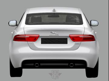 Afbeelding van Achterruit Jaguar XE