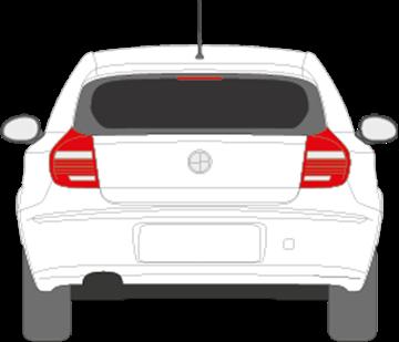 Afbeelding van Achterruit BMW 1-serie 5 deurs (DONKERE RUIT)