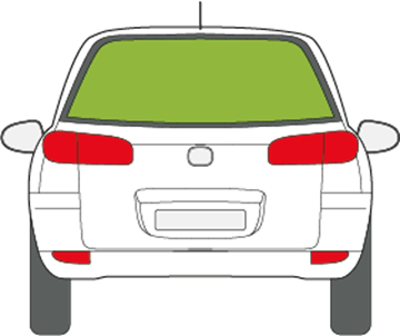 Afbeelding van Achterruit Mazda 2