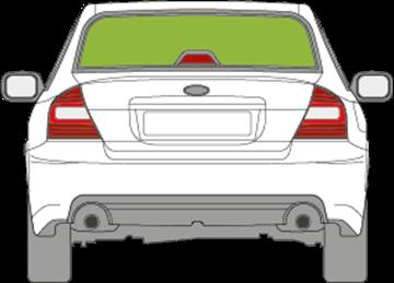 Afbeelding van Achterruit Subaru Legacy sedan