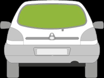 Afbeelding van Achterruit Mazda 121 5 deurs