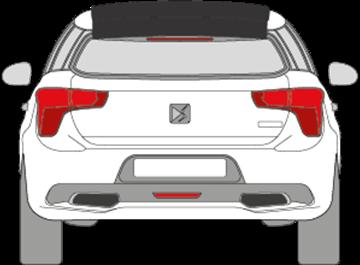 Afbeelding van Achterruit boven Citroën DS5 (DONKERE RUIT)