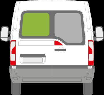 Afbeelding van Achterruit links Opel Movano met ontdooiing