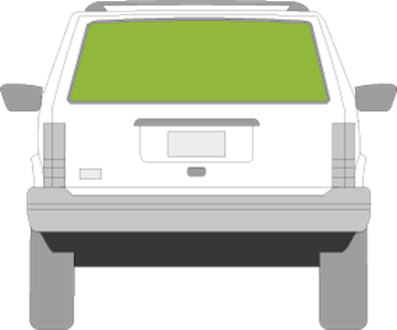Afbeelding van Achterruit Jeep Cherokee 5 deurs off-road (1984-1997)