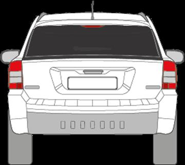 Afbeelding van Achterruit Jeep Compass (DONKERE RUIT)