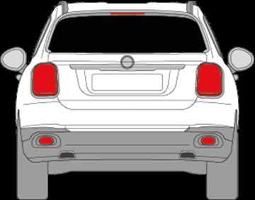 Afbeelding van Achterruit Fiat 500 X (DONKERE RUIT)