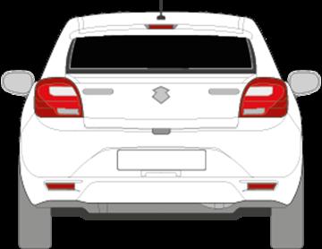 Afbeelding van Achterruit Suzuki Baleno 5 deurs (DONKERE RUIT)