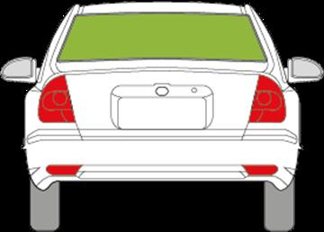 Afbeelding van Achterruit Hyundai Accent sedan