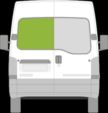 Afbeelding van Achterruit links Opel Movano niet verwarmd (1999-2010)