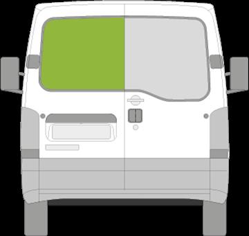 Afbeelding van Achterruit links Nissan Interstar met ontdooiing