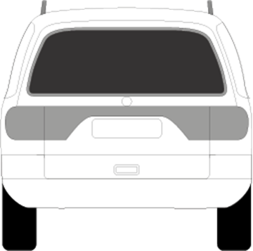 Afbeelding van Achterruit Seat Alhambra (DONKERE RUIT)