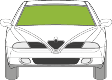 Afbeelding van Voorruit Alfa Romeo 164 met zonneband en verwarmd