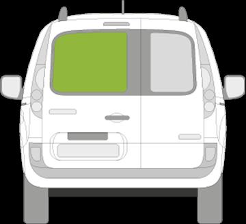 Afbeelding van Achterruit links Renault Kangoo (verwarmd)