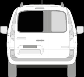 Afbeelding van Achterruit links Renault Kangoo (DONKER en verwarmd)