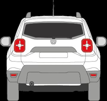 Afbeelding van Achterruit Dacia Duster (DONKERE RUIT)