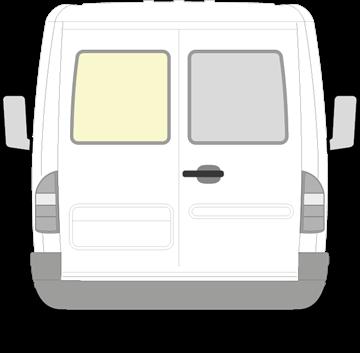 Afbeelding van Achterruit links Mercedes Sprinter (helder)