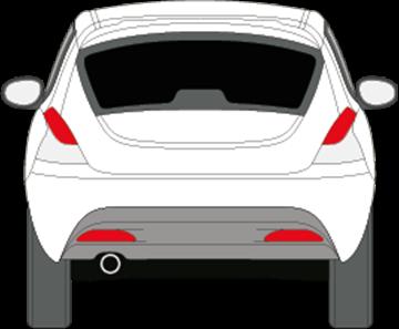 Afbeelding van Achterruit Lancia Ypsilon (DONKERE RUIT)