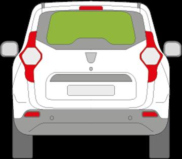 Afbeelding van Achterruit Dacia Lodgy